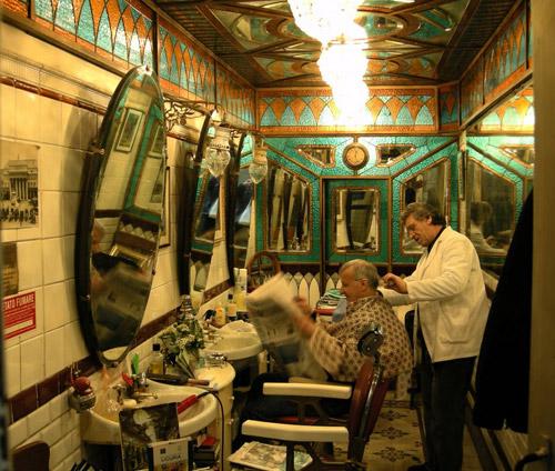 Botteghe storiche Genova la barberia Giacalone