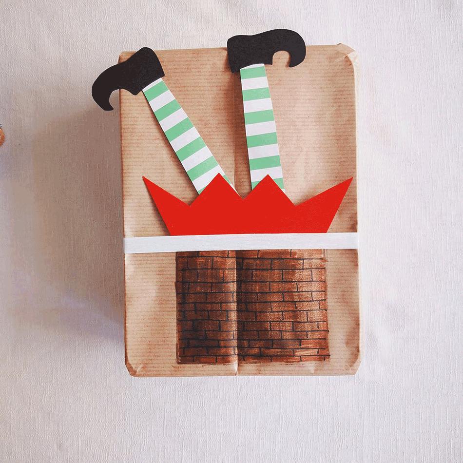 pacchetto regalo natale elfo