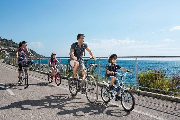 Primavera in Liguria gita in bici nei percorsi