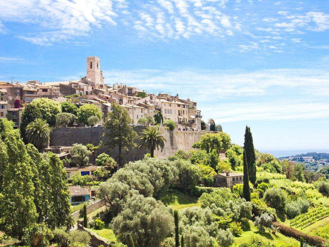 Saint Paul de Vence panorama sul borgo in una bella giornata
