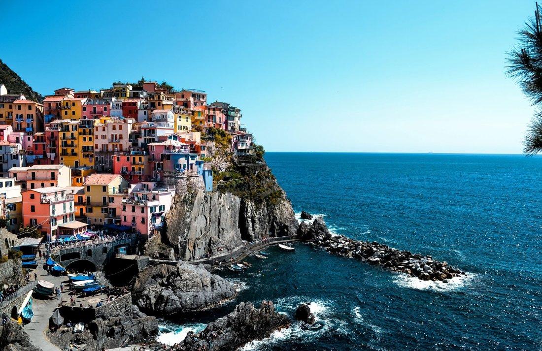 Cinque Terre paesino sul mare Liguria con i bambini