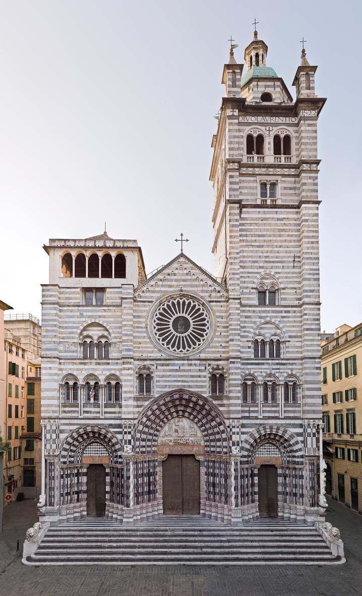 Genova Cattedrale di San Lorenzo facciata esterna