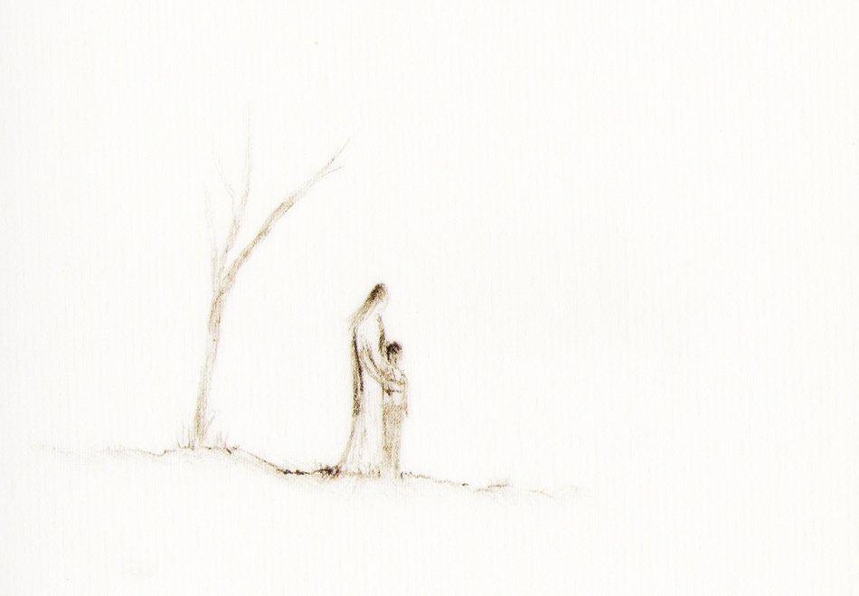 L'abbraccio David Grossman particolare disegno
