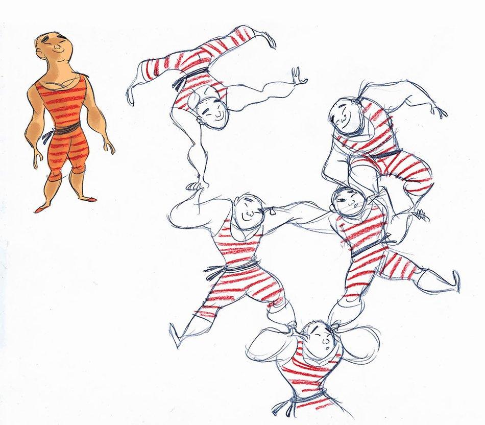 Viola Giramondo acrobati del circo nomade sketch acrobati