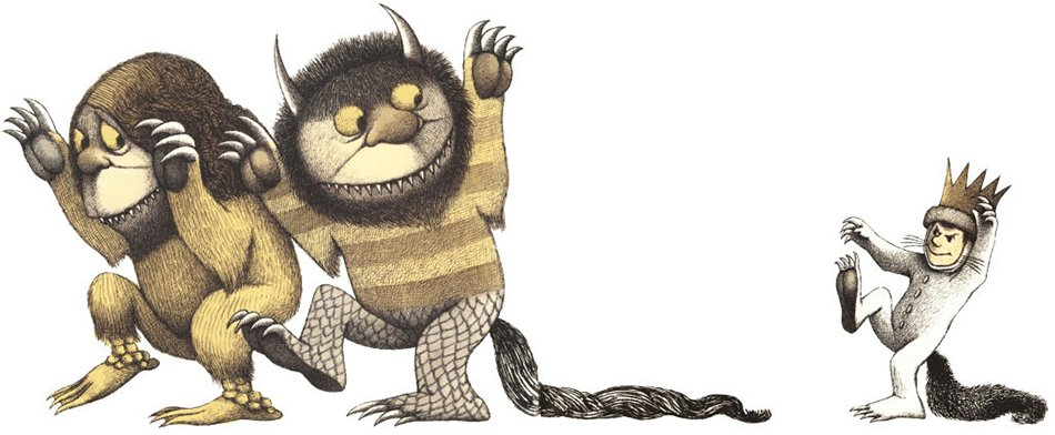 Nel paese dei mostri selvaggi Maurice Sendak particolare disegno