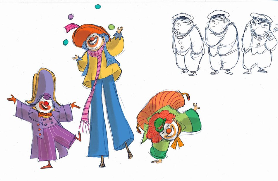 Viola Giramondo acrobati del circo nomade sketch clown