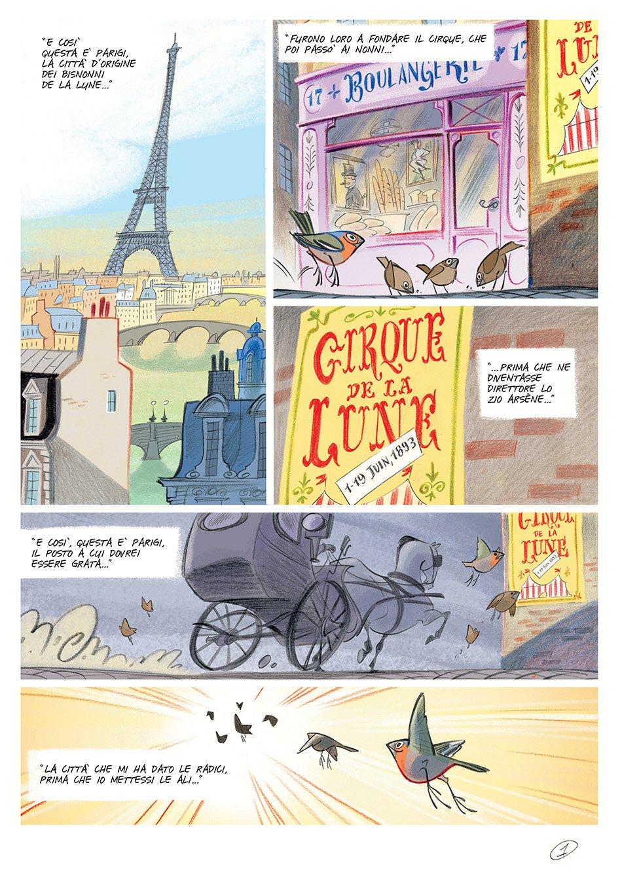 Viola Giramondo fumetti pagina interna