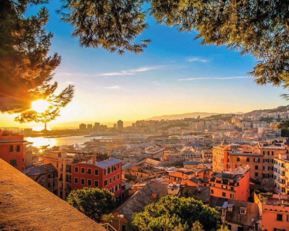Vista su Genova Riviera dei Bambini