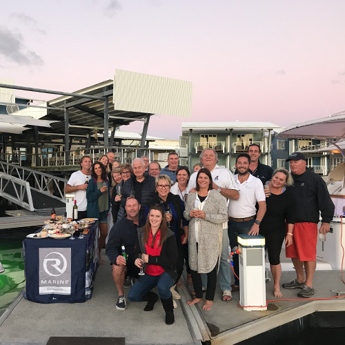 Perfect weather greets Riviera owners for R Marine Crawley Winter Getaway
