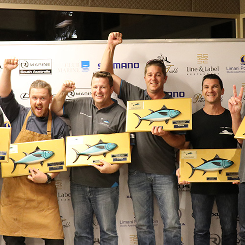 Anglers strike large catch in shortened Riviera Port Lincoln Tuna Classic