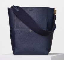 Celine-Seau-Sangle-Shoulder-Bag-Blue-2550
