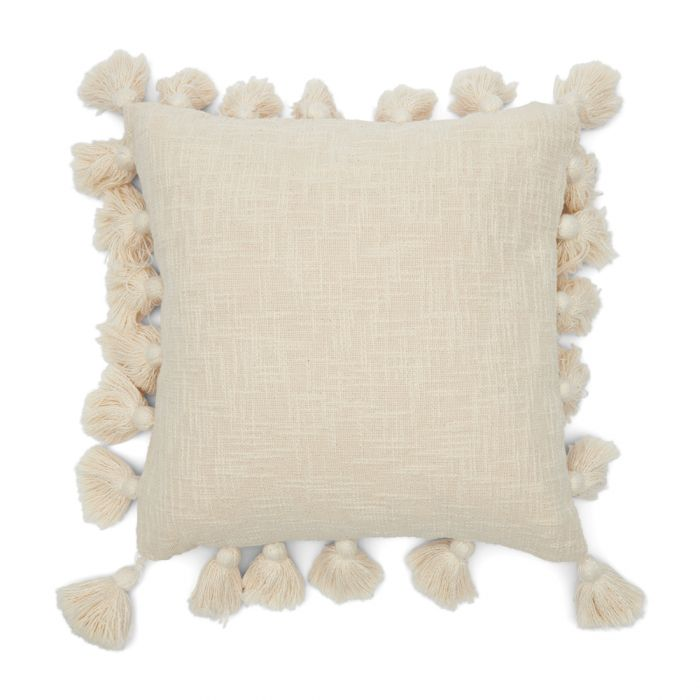 fleur pompom pillow cover