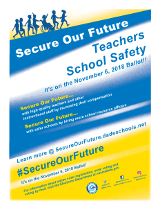 Secure Our Future Open House Flier