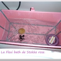 Test baignoire: la Flexibath de Stokke, rose.