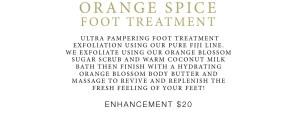pampering foot massage