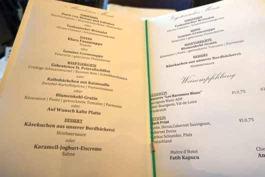 Annika restaurant 21 menu