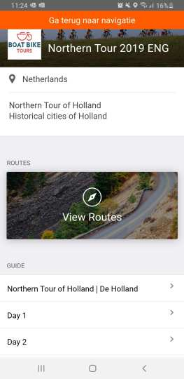 Ride with GPS app