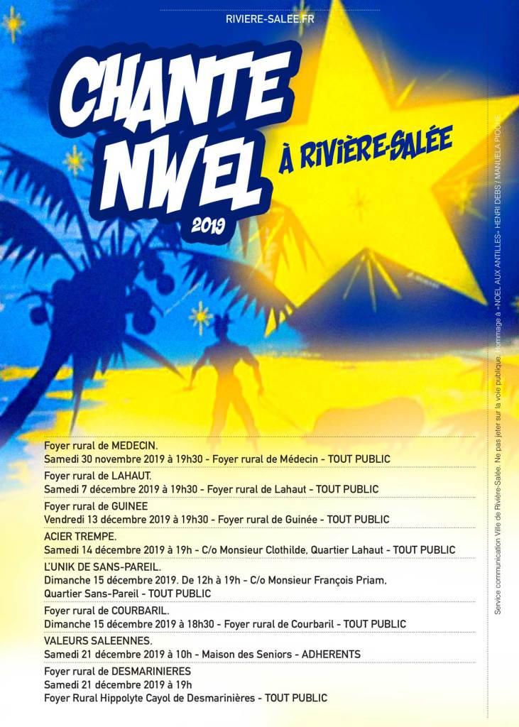 Chanté nwel à Rivière-Salée la liste