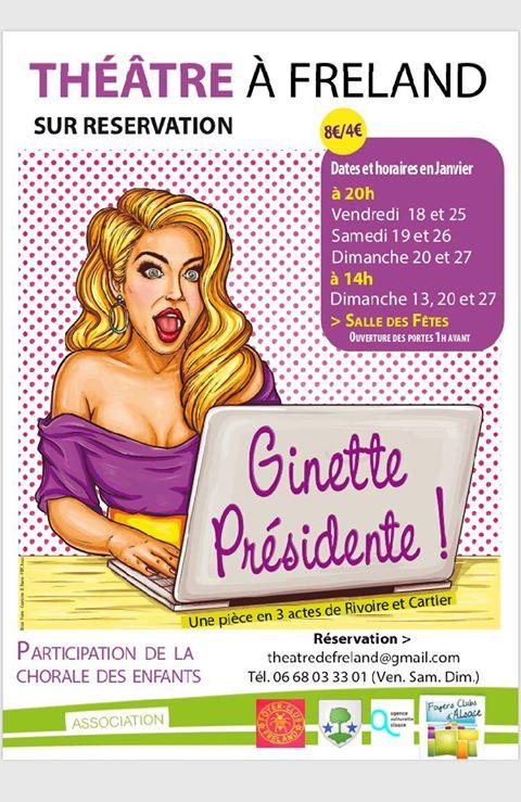 Ginette Présidente de Rivoire et Cartier, par le foyer rural de Freland