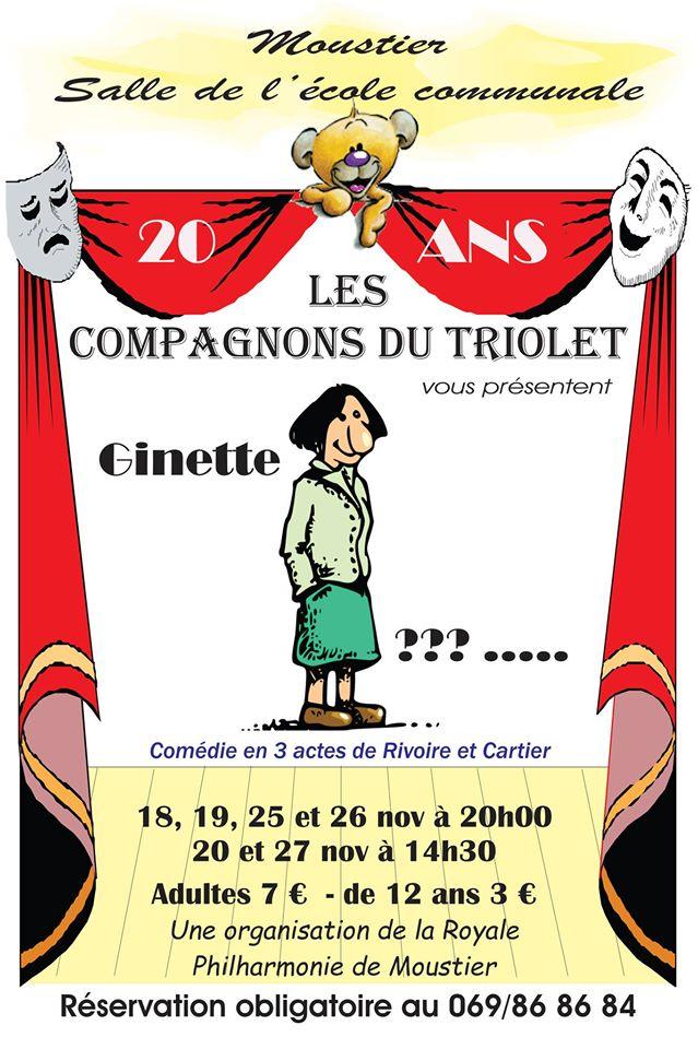 Ginette Présidente de Rivoire et Cartier, par les Compagnons du Triolet