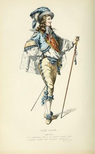 Dom Juan de Molière, gravure du XIXe siècle.