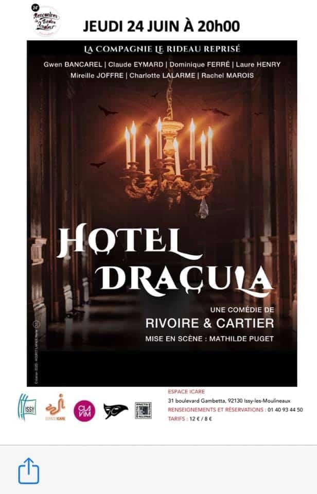Hôtel Dracula de Rivoire & Cartier par le Rideau reprisé Issy-les-Moulineaux 2021