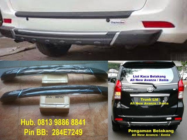 tanduk grand new veloz avanza vs great xenia pengaman belakang rear bumper guard all