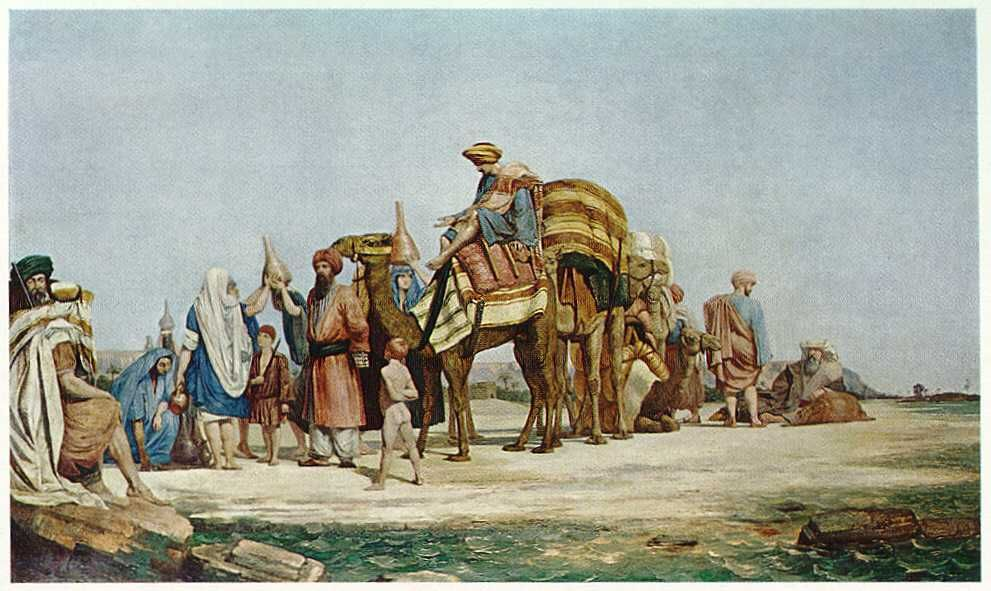 trade was one of the main reasons of spreading islam