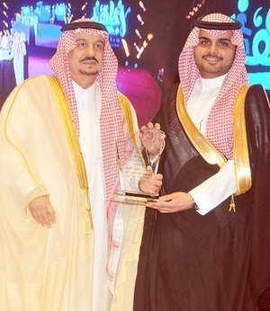 عبدالعزيز الطعيمي اثناء التكريم