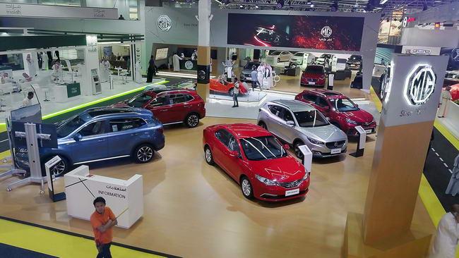 MG 6 تخطف الأضواء في معرض جـدة الدولي للسيارات