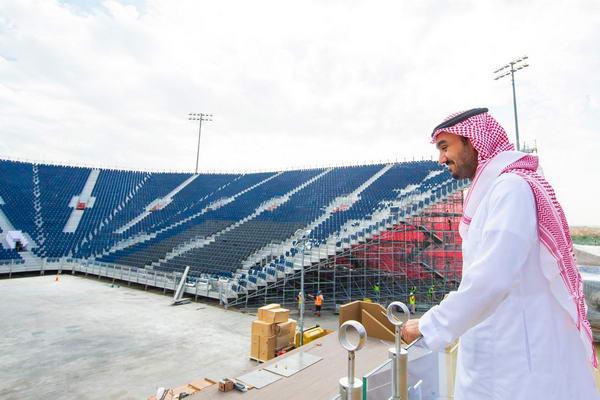 HRH Prince Abdulaziz visiting the Diriyah Arena