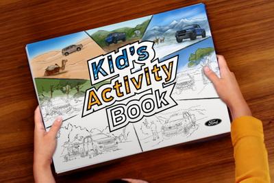 فريق عمل فورد يصدر كتاب يهتم بأنشطة الأطفال ليمنحهم التسلية خلال هذه الفترة الصعبة 