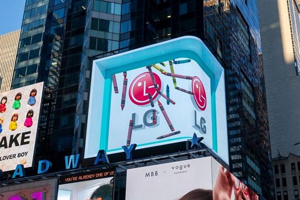 حملة ثلاثية الأبعاد تضيء التايمز سكوير في مدينة نيويورك