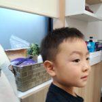 『鶴見・川崎でキッズカット。パパと一緒にご来店の【まさみちクン】』