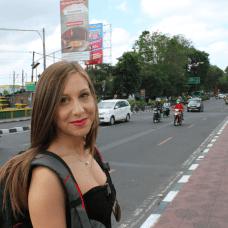 Avenue animée de Jakarta (Indonésie)