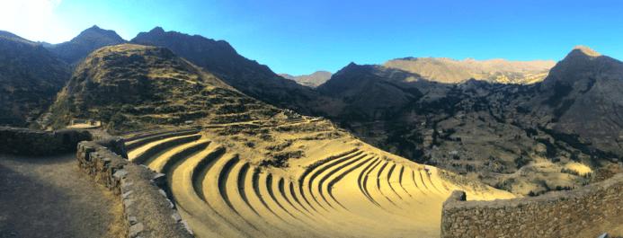 Panorama des ruines de Pisac, Vallée Sacrée