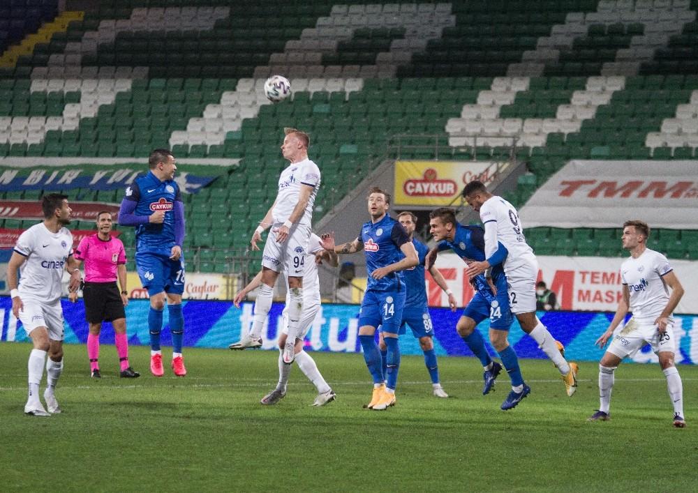 Süper Lig: Çaykur Rizespor: 0 – Kasımpaşa: 0 (İlk yarı)