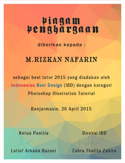 Desain Piagam Penghargaan : desain, piagam, penghargaan, Membuat, Desain, Piagam, Penghargaan, Rizkanpedia