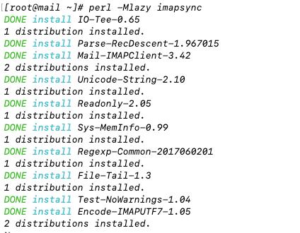Install Imapsync