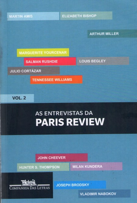 Capa de As entrevistas da Paris Review vol. 2
