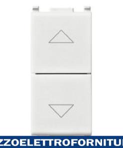 Commutatore 2P 10AX a due tasti bianco
