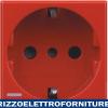 BTICINO axolute - presa std tedesco/italia P30 red