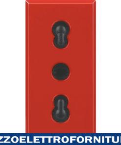 BTICINO axolute - presa bipasso 2P+T 10/16A rossa