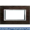 BTICINO axolute - placca 4P legno wenge'