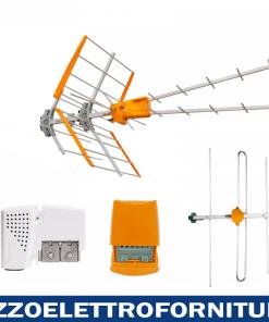 KIT ANTENNA UHF + ANTENNA B3 + AMPLIFICATORE + PSU