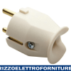SPINA DIRITTA 2P+T 10/16A TED/FRA.BIANCO