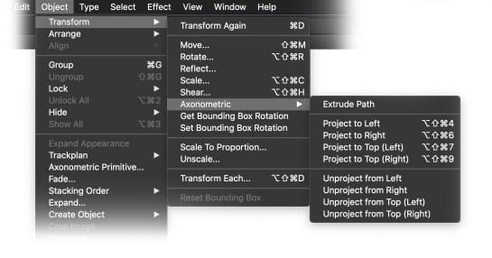 AxoTools project menu items