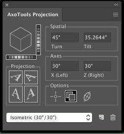 Graffix AxoTools projection panel