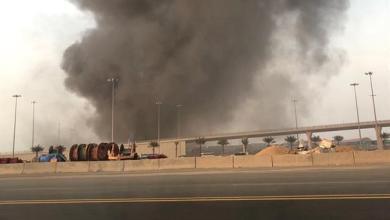 صورة تفاصيل حريق بمطار الملك عبدالعزيز الدولي