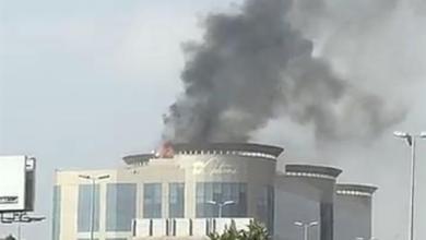 صورة حـريق في مجمع تجاري بشارع الأمير سلطان بجدة وتسجيل 29 حالة اخـتناق